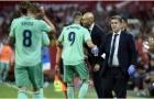 Đây, phản ứng của Zidane khi được trò cưng 'cứu giá' kịp thời