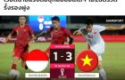Báo Thái Lan: ĐT Việt Nam thắng đẹp Indonesia, nhưng vẫn xếp dưới Voi chiến