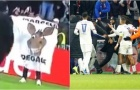 Depay hành động đẳng cấp sau khi ghi bàn quyết định giúp Lyon đi tiếp