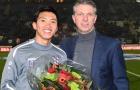 Đoàn Văn Hậu tươi rói khi được vinh danh, vẫn chưa có trận ra mắt Heerenveen