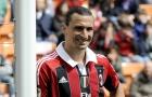 Lần gần nhất có Ibrahimovic, AC Milan ra sân với đội hình nào?