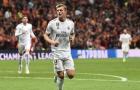Trên chấm phạt đền, Kroos thực hiện một hành động khiến 'tiểu Ronaldo' nhớ đời