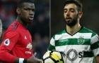 Tất tần tật 14 so sánh giữa Bruno Fernandes - Paul Pogba