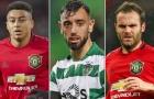 Bruno Fernandes ở đâu so với Jesse Lingard và Juan Mata?