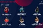 Liverpool trở thành ứng viên cho giải thưởng 'tập thể của năm'
