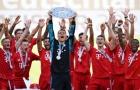 'Cầu vồng' xuất hiện, Bayern thắng hủy diệt trong ngày nâng chiếc đĩa bạc Bundesliga