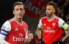 Arsenal đồng ý tăng lương cho Aubameyang, nhưng vẫn kém xa Mesut Ozil