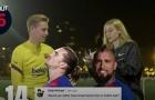 De Jong chọn kiểu tóc giữa Griezmann và Vidal