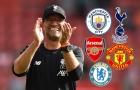 Jurgen Klopp 'điểm danh' 5 đội cạnh tranh chức vô địch NHA với Liverpool