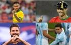 Neymar, Ronaldo đã có bao nhiêu bàn thắng sau 100 trận đầu tiên ở ĐTQG?