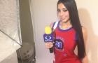 Addry Duenas - Nữ phóng viên bốc lửa mê Real Madrid