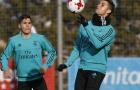 Ronaldo mắt sưng to trong buổi tập mới nhất của Real Madrid