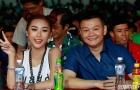 Hotgirl Quỳnh Nhi nhí nhảnh xem chung kết EURO