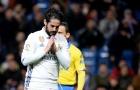 Isco mệt mỏi và mất kiên nhẫn ở Real Madrid