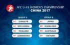 """U19 nữ Việt Nam vào """"bảng tử thần"""" ở giải châu Á 2017"""