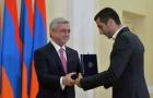 Mkhitaryan được Tổng thống Armenia trao tặng huân chương hạng nhất