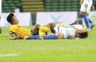 Cầu thủ U22 Malaysia và Brunei suýt 'tẩn' nhau trên sân