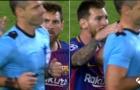 Messi may mắn chỉ phải nhận thẻ vàng trong trận đấu với Juventus