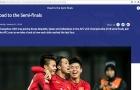 U23 Việt Nam thắng, trang chủ AFC vẫn ghi Iraq vào bán kết U23 châu Á