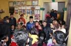 Cú bay người đánh đầu của Hà Đức Chinh gây sốt với hàng ngàn người dân Phú Thọ