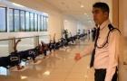 U22 Việt Nam phải tập ở hành lang khách sạn tại Malaysia