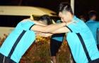Vừa có mặt tại Thái Lan, ĐT U23 Việt Nam đã tranh thủ tập luyện