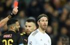 Nhận thẻ đỏ trực tiếp, Ramos cân bằng kỷ lục 'chặt chém' với tiền bối