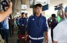 Cầu thủ Triều Tiên lạnh lùng trước ống kính truyền thông Việt Nam