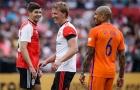 Gerrard trở lại sân cỏ, khoác áo Feyenoord trong trận cầu tri ân Dirk Kuyt