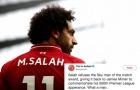 Vì sao Salah từ chối danh hiệu 'hay nhất trận' của Sky Sports?