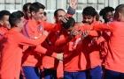 Atletico rạng rỡ sau thất bại tại derby Madrid.