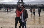 Dani Alves khoe ảnh tình tứ bên vợ dưới tháp Eiffel