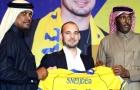 Sneijder gượng cười trong ngày sang Qatar thi đấu