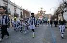 Fan Juventus 'đi bão' vinh danh thần tượng