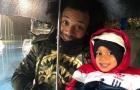 Marcelo hóa 'anh trai mưa' che chở con trai trên sân tập