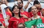 Bạn gái Ronaldo, Georgina Rodriguez nổi bần bật giữa dàn CĐV Bồ Đào Nha