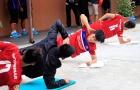 U22 Việt Nam cân đối các bài tập trước SEA Games 29