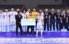 Giải futsal Quốc tế 2017: Thầy trò HLV Miguel Rodrigo rạng danh trên mục nhận huy chương