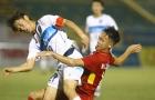 Chùm ảnh: U19 Việt Nam kiên cường chống trả U21 Yokohama