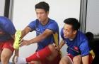 Văn Quyết - Công Phượng tươi như hoa trên sân tập U23 Việt Nam