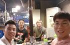 Tuấn Anh chào đón Văn Thanh, Đức Lương bằng món ăn đặc biệt trên đất Hàn Quốc