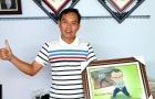 """Bức tranh giấy xoắn và lời nhắn đặc biệt, chúc thầy trò Park Hang-seo hạ gục """"Samurai xanh"""""""