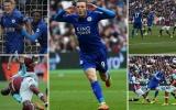Vardy, Mahrez lập công, Leicester có trận thắng thứ tư liên tiếp
