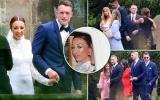 Dàn sao Man United 'lèo tèo' dự đám cưới Phil Jones