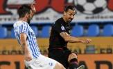 Ibrahimovic 'tái xuất', Milan suýt thua đội bét bảng