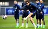 Chùm ảnh: Các chân sút tuyển Pháp hăng say tập dứt điểm