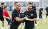 Barca tập luyện chuẩn bị cho trận tranh cúp Joan Gamper