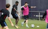 Messi tập luyện cật lực trước chuyến hành quân đến Bồ Đào Nha