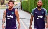 Lionel Messi gửi lời chào tạm biệt đến đồng đội ở Barcelona