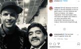 Cristiano Ronaldo bày tỏ sự tiếc thương tới Diego Maradona